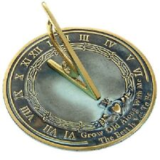 "Grow Old With Me Verdigris Brass 10"" Sundial, 10"" Dia. by Rome Industries"