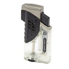 Vertigo Glock Clear Triple Torch Butane Lighter, Large Flame Adjustor
