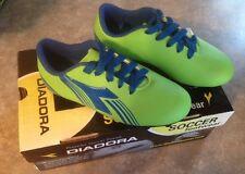 NEW Diadora Soccer Cleats Avanti Green / Blue Youth Size 10 ~ FREE SHIPPING