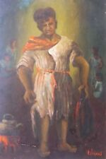 """Gosse tunisien"", peinture de Emile-Henry Tilmans, 1956"