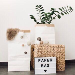 Papiersack Paperbag zur Aufbewahrung von Spielzeug, Wäsche und Krimskram - Klein