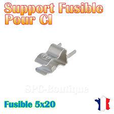 20x Support fusible pour fusible 5x20 mm a souder sur platine de montage
