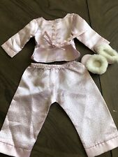 American Girl Rebecca's Pink Satin Pajamas and Slippers
