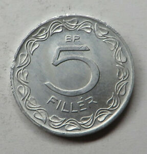 Hungary 5 Filler 1970BP Aluminum KM#549 UNC