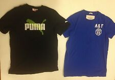 Boys size Medium Abercrombie & Fitch AF Tee T shirt + PUMA Tee M Medium TWO TEES
