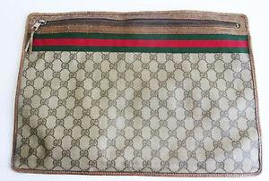 Vintage Gucci brown GG monogram portfolio document holder GUCCI BAG Mens Gucci