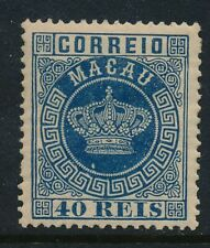 China/Macau. 1884. CROWN issue. 40 R. blue unused