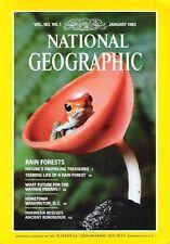 National Geographic Magazine January 1983 Rain Forests