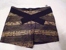 SMYTHE LES VESTES Modern-Tribal Wrap desert print Mini Skirt SZ 4-New w/tags