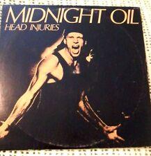 MIDNIGHT OIL HEAD INJURIES VINYL LP 1979 ORIGINAL AUSTRALIAN PRESSING MLF 322