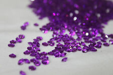 2000 x Violet 4.5mm Marriage Diamant Décoration de table CONFETTI vendeur