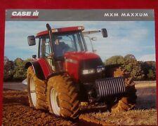 N.O.S. Case IH MXM Maxxum series Tractor PRODUCT RANGE Sales Brochure