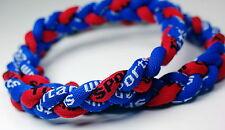 "20"" Royal Blue Red Titanium Sport Necklace Tornado Germanium FREE SHIPPING!!!"