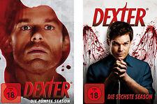8 DVDs * DEXTER - STAFFEL / SEASON 5 + 6  # NEU OVP =