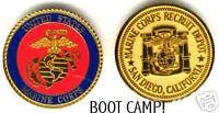 MCRD SAN DIEGO MARINE CORPS BOOT CAMP CHALLENGE COIN