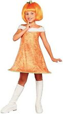 DELUXE QUALITY CHILD FRUITY LICIOUS PUMPKIN SPICE SMALL (4-6) COSTUME WITH WIG