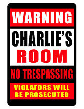 Personalized Room Security Sign Printed with YOUR NAME Custom Aluminum Sign #209