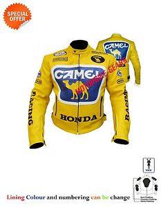 Yellow Motogp racing leather jacket racing yellow camel leather jacket bike gear