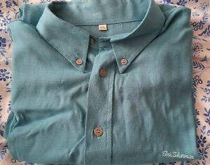 Mens Vintage Ben Sherman Shirt Size L Teal