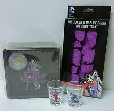 Paladone Joker Poker Set Joker Harley Quinn Shot Glasses & Ice Cube Tray