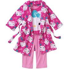 Girls Hello Kitty  Robe and PJ 3-Piece Gift Set Size 6/6X NWT