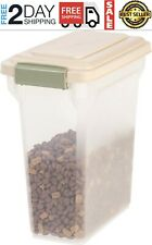 Slim Dog Food Storage Container Premium Airtight Pet 12.5 Pounds Almond 15 QT