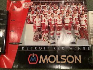 Detroit Red Wings Joe Louis SGA Molson Poster 1993-94 Yzerman Lidstrom Fedorov