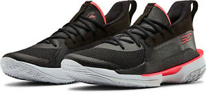 Under Armour Curry 7 Men's 11.5 Basketball Shoes Black Beta Red 3021258-001 NEW