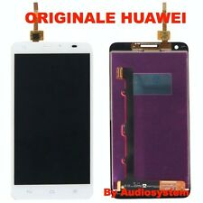 DISPLAY+TOUCH SCREEN ORIGINALE 100% per HUAWEI ASCEND G750 BIANCO VETRO HONOR 3X