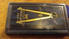 C F PRO ART Scholastic Gold Color Bavarian Compass 21210 VERY NICE