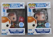 Funko Pop Shop Exclusive Freddy Funko #06 Astronaut Flag #07 Astronaut Ray Gun