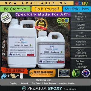 Eco EPOXY RESIN CLEAR Kit - Glass Finish- Artwork, Coatings, Floors etc