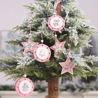 Christmas Decorations Wooden Ornaments Tree Elk Hanging Tags Pendant Decoration