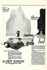 """The new Edison """"Phonograph with a Soul"""" * American Ad. in the thirties"""