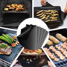 5Pcs NonStick Garden Bbq Grill Mat Bake Grilling Mats Barbecue Pad Teflon Fiber