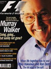Formula 1 Magazine Nov 2001 - Murray Walker, Raikkonen, James Hunt, Gilles Ville