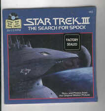 Star Trek 3 The Search for Spock book and record factory sealed