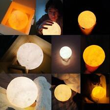 Remote Control Patted 3D Printing Moon Light Lamp