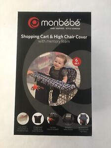 Monbebe 2-In-1 Shopping Cart Cover & High Chair Cover with memory foam