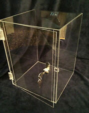 SUMMER SPECIAL <<Acrylic CounterTOP Display Case  10x10x16.5 (revolve avail)