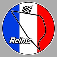 REIMS GUEUX AUTODROME CIRCUIT RACING TRACK 9cm AUTOCOLLANT STICKER RA137
