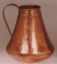 Jarra vino hecha a mano en cobre. Wine jug handmade copper