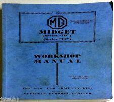 VINTAGE ORIGINAL MIDGET WORKSHOP MANUAL SERIES TD/TF THE M.G CAR COMPANY