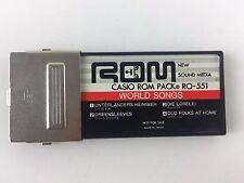 ROM Casio ROM Pack RO-551 - World Songs, New Sound Media