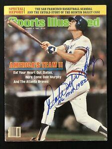 Dale Murphy Signed Sports Illustrated 8/9/82 No Label Braves Baseball Auto JSA