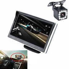 5in Car Monitor TFT LCD HD Digital LED Waterproof w/12LED Dynamic Track Camera