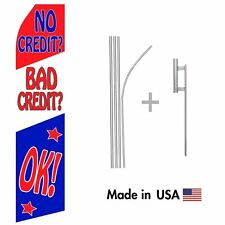 No CreditBad Credit OK! Econo Flag 16ft Advertising Swooper Flag with Hardware