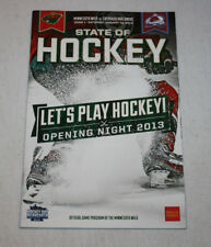 Minnesota Wild Program Magazine | January 19 2013