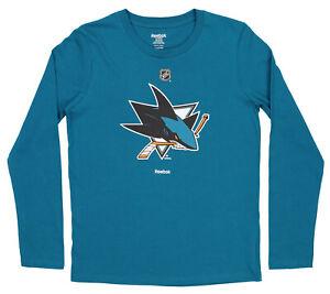 Reebok NHL Youth (8-20) San Jose Sharks Long Sleeve Team Logo Tee Shirt