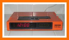 WELTRON COMPUTER CLOCK RADIO Vintage 1960/1970s ORANGE COLOR VERSION VERY RARE!